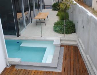 New concrete pools